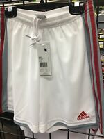 Womens  Adidas ClimaLite White / Red / Grey Soccer shorts size  CUSTOM color
