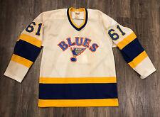 Rare 1980's CCM Great Sjate St. Louis Blues Capt Jersey #61 Sz Men's Med. VTG