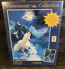 Clementoni - THE WHITE STALLION - 1000 pce Fluorescent Collection Puzzle
