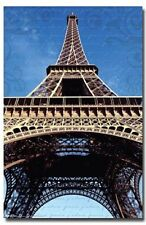 Looking up at the Eiffel Tower Poster Art Print T9324