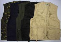 Mens Multi Pocket Lightweight Casual Gilet Bodywarmer Fishing Waistcoat Vest