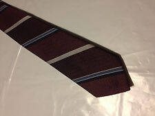 Mens Red Blue Silver Tie Necktie OAKTON~ FREE US SHIP (10626)