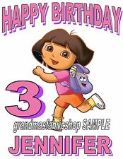 PERSONALIZED CUSTOM DORA THE EXPLORER BIRTHDAY T SHIRT