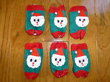 Set of 6 Vintage Santa Clause Holiday Drink Cozies