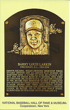 BARRY LARKIN -Baseball Hall of Fame- INDUCTION Plaque Postcard- REDS