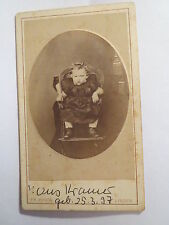 Lingen - Hans Kramer - geb. 25.3. 1897 als Kleinkind - Baby / CDV