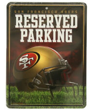 San Francisco 49ers Metal Reserved Parking Sign [NEW] NFL Wall Embossed CDG