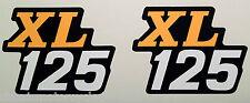 HONDA XL125 XL125K XL125K4 SIDE PANEL DECALS