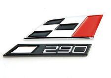original Seat 290 Cupra Logo Schriftzug Emblem Zeichen badge Heck Raceflag
