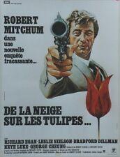 """""""DE LA NEIGE SUR LES TULIPES (AMSTERDAM KILL)"""" Affiche entoilée (Robert MITCHUM)"""