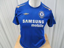 VINTAGE UMBRO CHELSEA F.C. YOUTH WOMEN XL SEWN JERSEY 2005-06 KIT 100th ANNIVER.