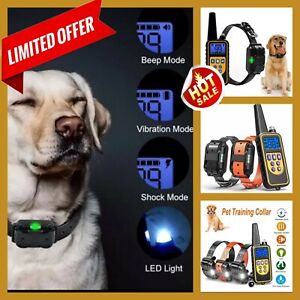 Electric Dog Training Collar Remote Control Waterproof Rechargeable Collar