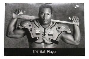 """1988 Bo Jackson Original Nike Poster """"The Ball Player"""" 24x36 Iconic Image"""