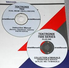 Tek 7844 R7844 52 Plug Ins 61 Manual Set