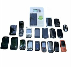 Lot of 20 Mixed Cell Phones | Samsung, Nokia, LG, HUAWEI, … | Untested for Parts