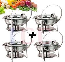 4X  Quality chafing Round Chaffing Dish Lid BUFFET DISH FOOD WARMER warm server