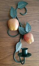 """Home Interior """"Apple Delight"""" Wall Candle Sconce - 13"""""""
