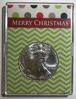 MERRY CHRISTMAS - 2018 American Eagle 1 oz. - .999 FINE SILVER COIN
