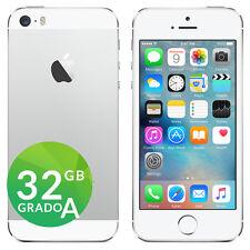 APPLE IPHONE 5S 32GB BIANCO ARGENTO SILVER ACCESSORI E GARANZIA CORRIERE
