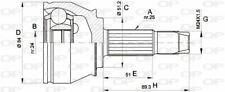 TêTE DE CARDAN POUR FIAT DOBLO CARGO 1.3 JTD 16V,DOBLO MONOSPACE 1.9 JTD