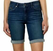 Calvin Klein Ladies Jeans Inkwell Blue Bermuda City Shorts SIZE 14 New with tags