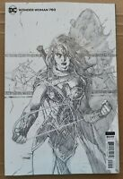 WONDER WOMAN #750 COMIC JIM LEE 1:100 INCENTIVE PENCIL SKETCH VARIANT