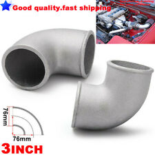 "3"" INCH 76mm Cast Aluminium Elbow Pipe 90 Degree Intercooler Turbo Tight Bend"