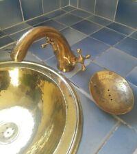 Robinet mélangeur laiton jaune gravé Marocain pour évier lave main lavabo