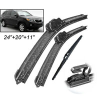 Front Rear Windshield Wiper Blades For Kia Sorento MK2 2010 2011 2012 2013 2014