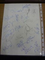 2006 Autographed A4 Page: Millwall (v Stoke City) - Approx 21 Signatures Upon A