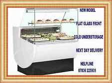 SLIMLINE 1 METRE FLAT SERVE OVER DELI FRIDGE CAFE COUNTER UNDERSTORAGE@£832+VAT