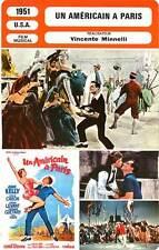 FICHE CINEMA : UN AMERICAIN A PARIS  Kelly,Caron,Minnelli 1951 An American In P.