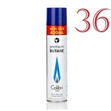 Colibri - Bombole GAS 36 x 400ml Butano x Ronson Dupont Corona Dunhill Savinelli