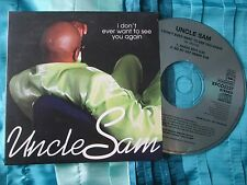 Uncle Sam – I Don't Ever Want To See You Again XPCD 2237 Promo UK CD Single