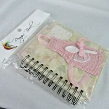 Handmade Recipe Book Spiral Bound New In Package Gift Present Apron Pink Turski