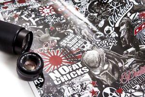 [30,00€/ m²] Stickerbombfolie Autofolie Stickerbomb Folien - Schwarz mit Rot