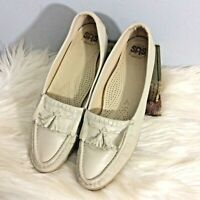 SAS Wheat  Taupe Kiltie Comfort Shoes Loafers Leather 9  Women's USA Tassel