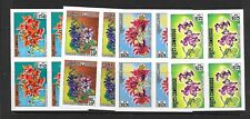 CAMBODIA Sc 259-62 NH IMPERF BLOCK OF 4 OF 1971 - FLOWERS