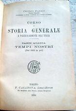 1894 STORIA D'ITALIA DAL 1815 AL 1890 DI CECILIO FABRIS. SOCIALISMO