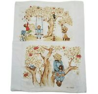 2 VINTAGE DOUBLE SIDED HOLLY HOBBIE & FRIENDS STANDARD SIZED PILLOWCASES BED