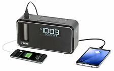 Bluetooth Wireless Alarm Clock Radio Charge USB Docking Speaker Samsung S7 S6 S5