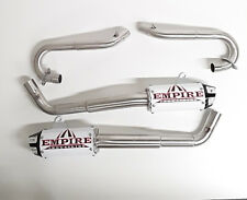 YAMAHA RAPTOR 700 Empire Industries Shorty Exhaust System Pipe WHITE