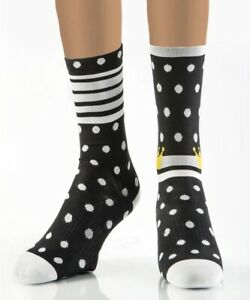 """Solo Warrior Women's 6"""" Compression Cycling Socks, Size 5-10, Cycling Queen"""