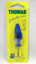 Thomas Fighting Fish 3/8 oz Nickel Blue Spinning Fishing Lure Spinner Spoons