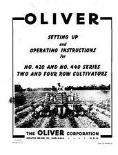 Oliver 420 440 Ser. 2 4 Row Cultivator Operators Manual