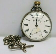 LEHMANNS Prize Medal 1865 Intl. Exhibit Pocket Watch SOLID SILVER Chain - 254