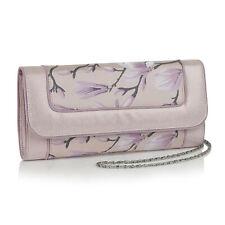 Ruby Shoo Charleston Pink Floral Clutch Bag (Matches Cleo Heels)