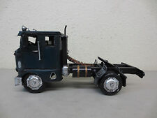 LARGE VINTAGE TIN METAL TRUCK TRACTOR TANKER 1942 FREIGHTLINER BUBBLENOSE SEMI