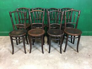 Set Of 8 Thonet Cafe Bistro Bentwood Chairs. Courier Available