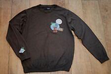 Men's NEXT jumper SIZE M badge trim cotton blend casual unusual GREAT CONDITION
